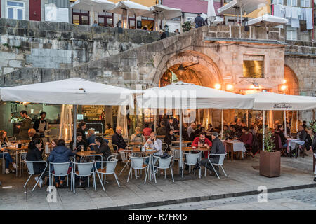 Chez Lapin, Restaurant Ribeira district, Porto, Portugal - Stock Image
