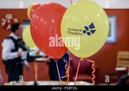 Belfast, Northern Ireland. 16/10/2016 - Disability Hate Crime awareness session by Leonard Cheshire NI. - Stock Image