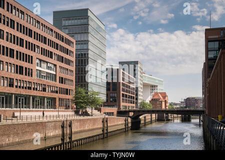Historic Warehouse District buildings, Speicherstadt, Hamburg, Germany - Stock Image