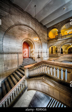 The Pittsburgh City-County Building is the seat of government for the City of Pittsburgh, and houses both Pittsburgh and Allegheny County offices. - Stock Image