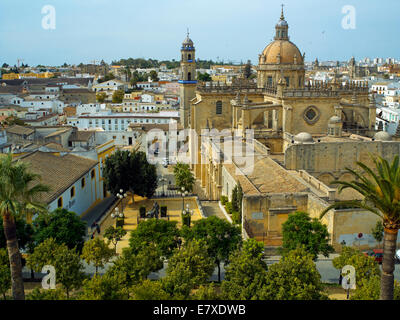 The Cathedral of 'Barrio de Santiago ' in Jerez - Stock Image