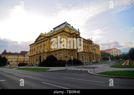 The Croatian National Theatre of Zagreb - Stock Image