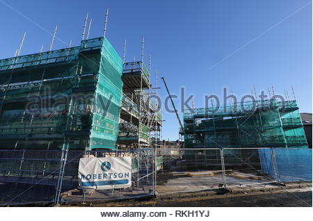 Construction site for Affordable housing Derby Street Dundee Scotland  30th January 2019 - Stock Image