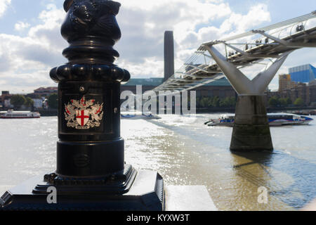The Shard, Embankment / River Thames, London - Stock Image
