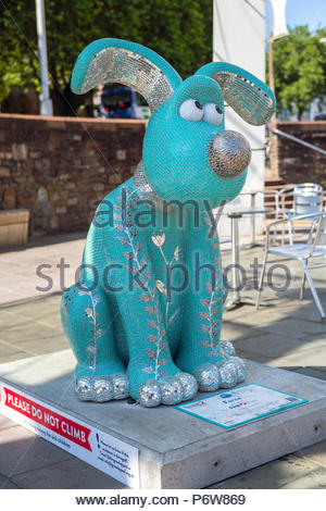 Nick Parks Wallace & Gromit Unleashed 2 in Bristol City Centre, UK. - Stock Image
