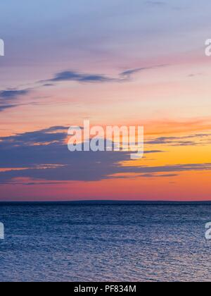 Dusk  sky on sea - Stock Image