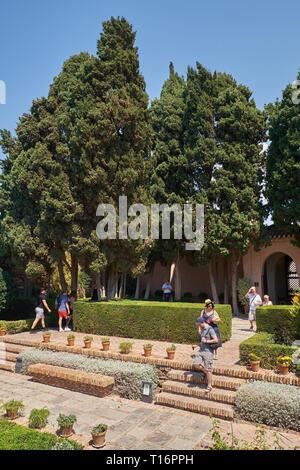 Alcazaba of Málaga. Andalusia, Spain. - Stock Image