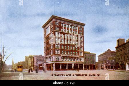 Detroit, Michigan, USA - Broadway and Breitmeyer Building - Stock Image