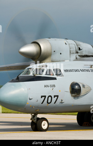 Croatian Air Force An-32B transport aircraft '707' - Stock Image