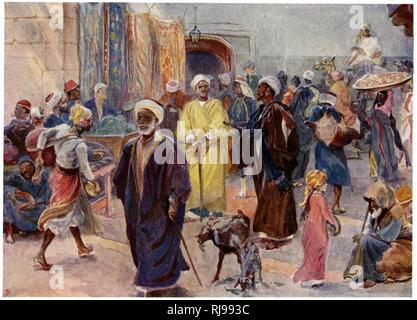 A bazaar in Cairo. - Stock Image