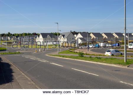 New housing in East Kilbride, Scotland, UK - Stock Image