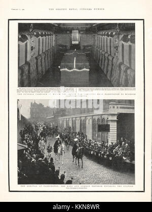 1901 The Graphic Funeral Carriage of Queen Victoria - Stock Image