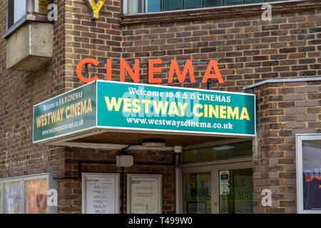 Westway cinema - Stock Image