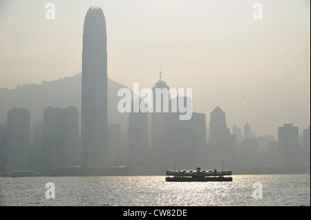 Hong Kong skyline and Star Ferry, China SAR - Stock Image
