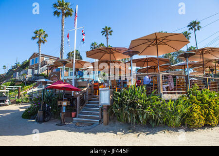 The Beachcomber Restaurant at Crystal Cove State Park California USA - Stock Image