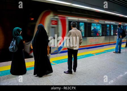 Marmaray, metro line connecting Europe and Asia, Uskudar, Istanbul, Turkey, Eurasia - Stock Image