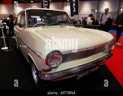 Richard Hammond's 1963 Opel Kadett which he drove in the Top Gear Botswana Special, on display at the DRIVETRIBE stand of the 2018 London Motor Show - Stock Image
