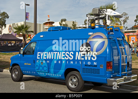 ABC Eyewitness News channel 7 Van Pasadena Los Angeles CA California - Stock Image