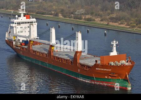 General cargo vessel Merwedegracht - Stock Image