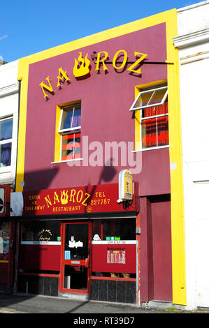 Nawroz restaurant and takeaway in King Street Plymouth Devon England UK - Stock Image