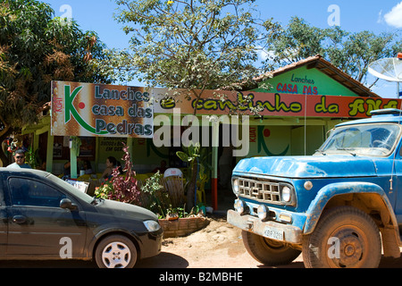 Local Bar, Povoado de São Jorge, Goiás, Brazil, South America - Stock Image