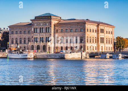 18 September 2018: Stockholm, Sweden - The National Museum, or Nationalmuseum, the national gallery of Sweden, located on the peninsula Blasleholmen i - Stock Image
