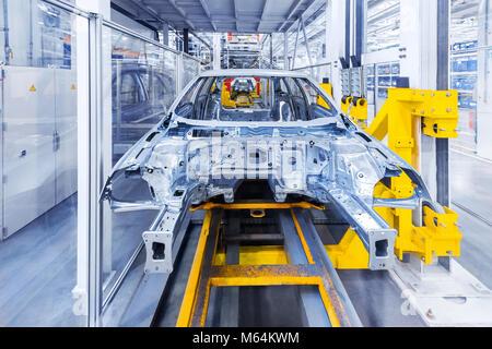 auto body at car plant - Stock Image