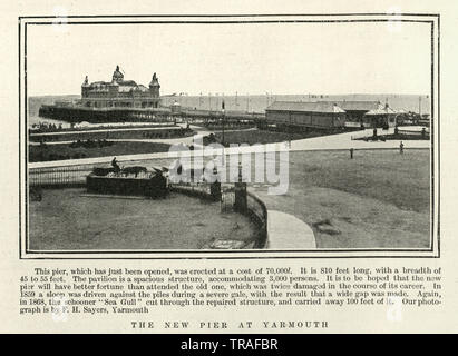 Vintage photograph of Yarmouth Pier, 1902 - Stock Image