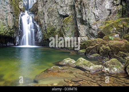 Full View of Catrigg Falls - Stock Image