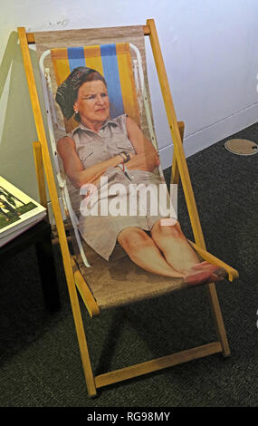 Deck Chair, Martin Parr, Return to Manchester exhibition, Mosley St Art Gallery, Jan 2019, Manchester, UK, M2 3JL - Stock Image