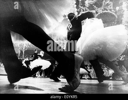 Sep 08, 1970; Munich, Germany; Dancing tournament. - Stock Image