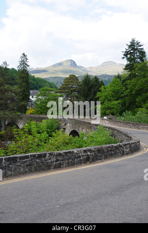 Ben Lawers as seen from the A827 at Killin, Perthshire - Stock Image