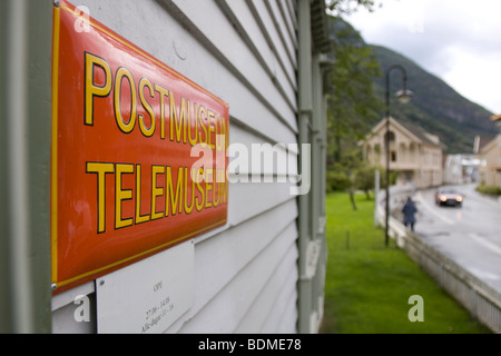 Postmuseum Telemuseum in the city of Laerdal, Laerdal, Sogn og Fjordane, Norway - Stock Image