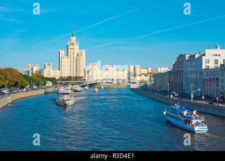 Moskva River, at Zaryadye Park, Moscow, Russia - Stock Image