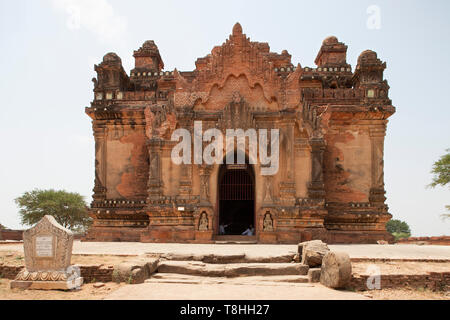 Nara Thihapatae temple, Old Bagan village area, Mandalay region, Myanmar, Asia - Stock Image