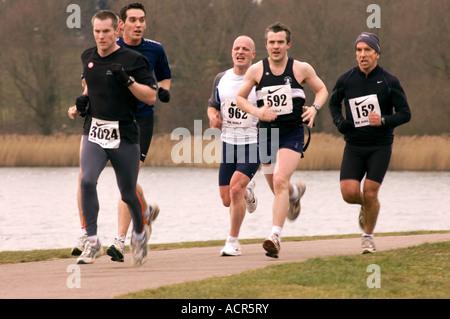 PICTURE CREDIT DOUG BLANE running the Nike Milton Keynes half marathon City of Milton Keynes - Stock Image