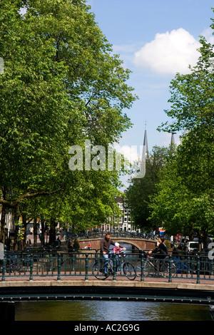 Amsterdam Leidsegracht - Stock Image