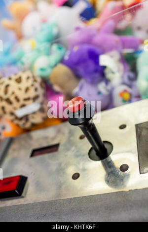 control stick on arcade - Stock Image