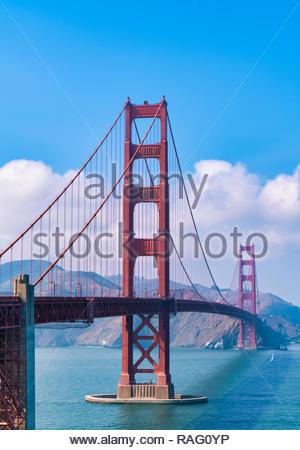 Golden Bridge, San Francisco (August 2018) - Stock Image