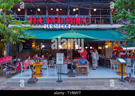 Pub Street, old town, Siem Reap, Cambodia, Asia - Stock Image