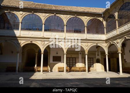 Courtyard, Old University, Antigua Universidad De Baeza, Renaissance, Baeza, UNESCO World Heritage Site, Jaén Province - Stock Image