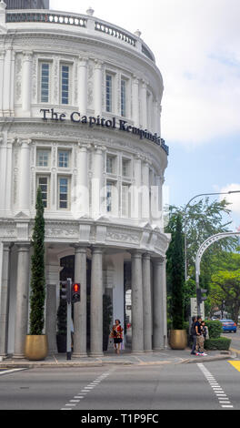 The Colonial architecture Capitol Kempinski Hotel Singapore - Stock Image