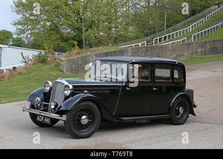 Rover 12 (P1), British Marques Day, 28 April 2019, Brooklands Museum, Weybridge, Surrey, England, Great Britain, UK, Europe - Stock Image