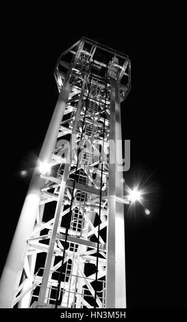 Bridge tower in Salford Quays - Stock Image