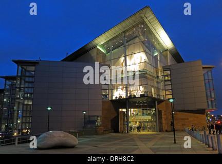 Manchester Bridgewater Hall at dusk - Stock Image