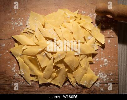 Italy Emilia Romagna - Maltagliati Pasta - Stock Image
