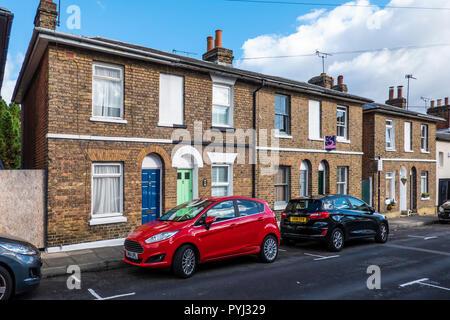 Row,Terraced,Houses,Church Street,St Dunstan's Area,Canterbury,Kent,England - Stock Image