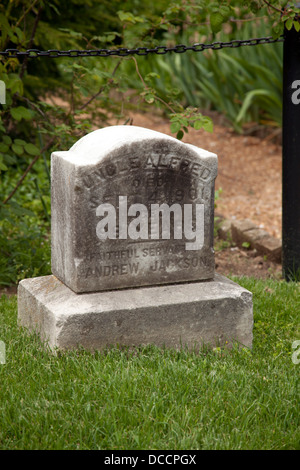 The Grave of Uncle Alfred a slave at the Hermitage the plantation home of President Andrew Jackson in Nashville - Stock Image