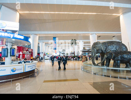 Indira Gandhi International airport in Delhi India - Stock Image