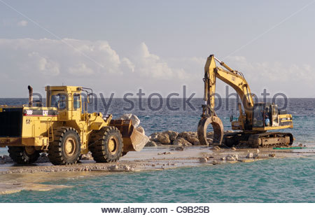 EXCAVATOR CONSTRUCTION vehicle digger - Stock Image